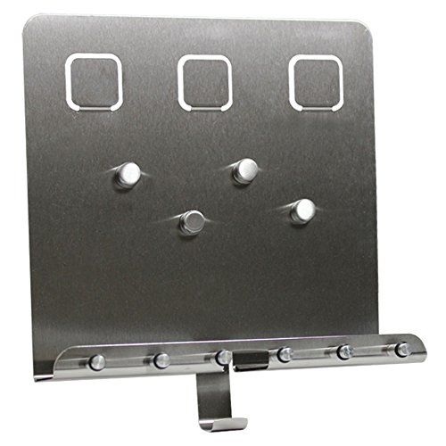 COM-FOUR Edelstahl Schlüsselbrett Schlüsselleiste Magnetwand (Variante 2)