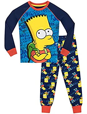 Los Simpson - Pijama para Niños - Bart Simpson - Ajuste Ceñido