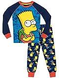 I Simpson - Pigiama a maniche lunga per ragazzi - Bart Simpson - Vestibilitta Stretta - 12 - 13 Anni