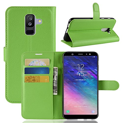 Funda   Capirotazo Billetera Samsung Galaxy A6 Plus 2018  Verde