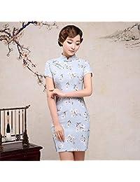 Shiduoli Vestito Lungo Cinese Tradizionale Orientale Asiatico delle Donne Cheongsam  del Vestito dalla Fessura del Manicotto 72b2085dddc