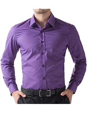 GK Men's -  Camicia classiche  - Maniche lunghe  - Uomo
