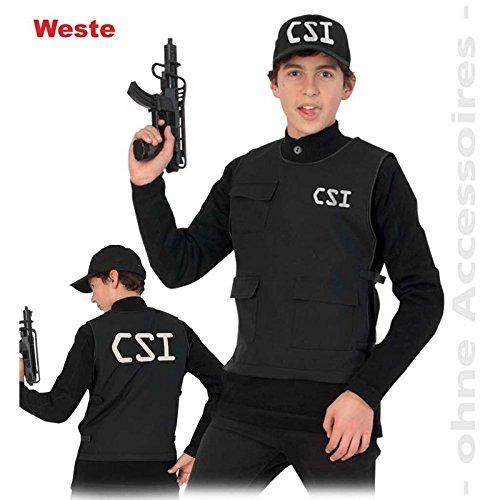 Gurimo-tex Jungen-Kostüm CSI Weste 152 (101208) NEU (Csi Kostüm Weste)