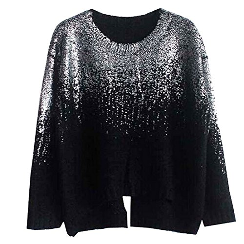 Partiss - Sweat-shirt - Femme Black Silver 02