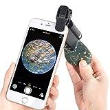 Owikar téléphone portable Loupe 60x -100x Zoom microscope Loupe LED pour téléphone portable UV Devise Detectting biologie Bijoux évaluation microscope