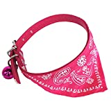 D-SYANA8 Faux Leather Dog Cat Triangular Bandage Bib Neckerchief Collar Scarf Pet Supply - Rose Red