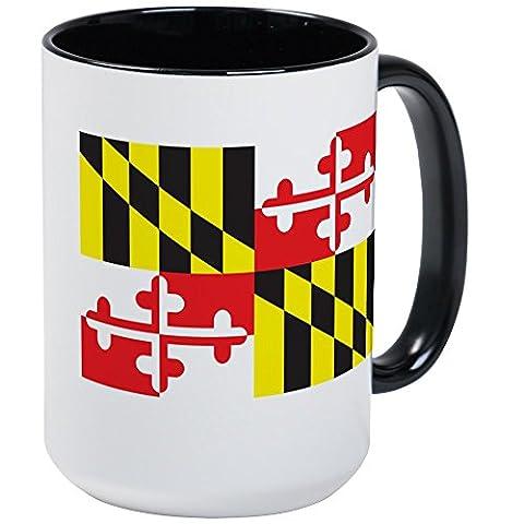 CafePress - MARYLAND-FLAG - Coffee Mug, Large 15 oz. White