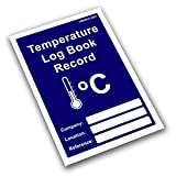 Temperature Record Log Book & Weekly Hygiene Audit. Food Catering Fridge Freezer