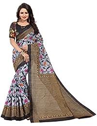 Black Bhagalpuri Woven Saree With Blouse