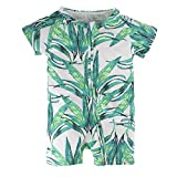 BIG ELEPHANT Unisex-Baby 1 Pieces Bamboo Printed Short Sleeve Romper L46