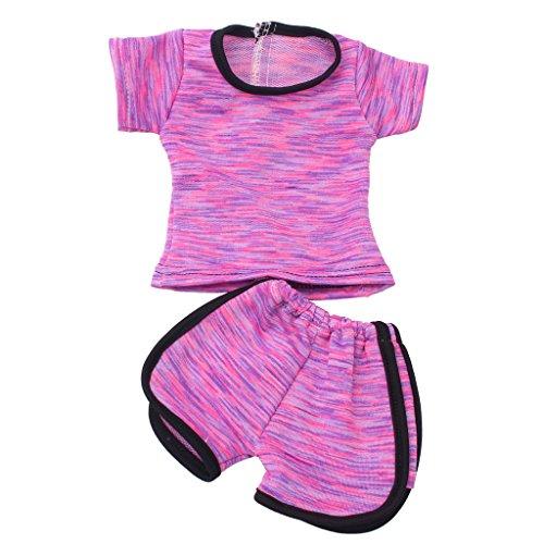 Sharplace 2pcs/Set Puppenkleidung Outfit Für 18 Zoll Mädchen Puppe Dress up - B