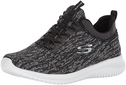Ultra Flex-First Take, Zapatillas Sin Cordones Para Mujer, Negro (Black/White), 40 EU Skechers