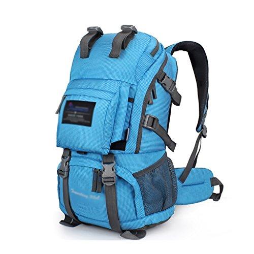 HWLXBB Outdoor Bergsteigen Tasche Männer und Frauen 35L Wasserdichte Mehrzweck-Bergsteigen Tasche Wandern Camping Bergsteigen Freizeit Rucksack Rucksack 2*
