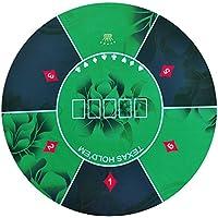 Texas Hold 'em de Poker redonda 120cm diseño de flores de goma Gaming Pad, Verde