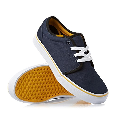 Vans Unisex-Erwachsene 0 Niedrige Sneaker Blu (Dress Blue / Old Gold)