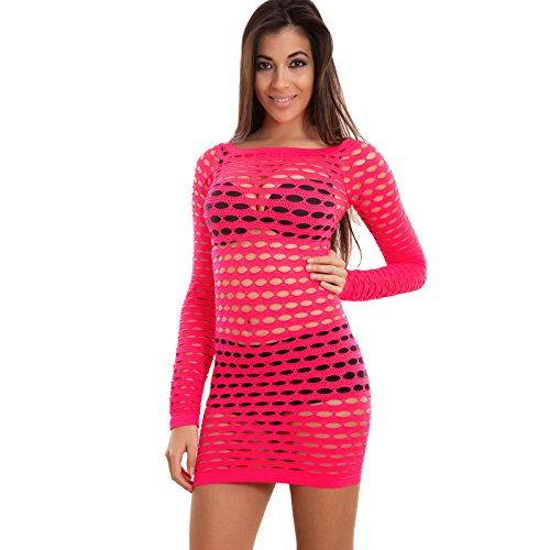 Toocool - Robe - Moulante - Femme Corallo fluo
