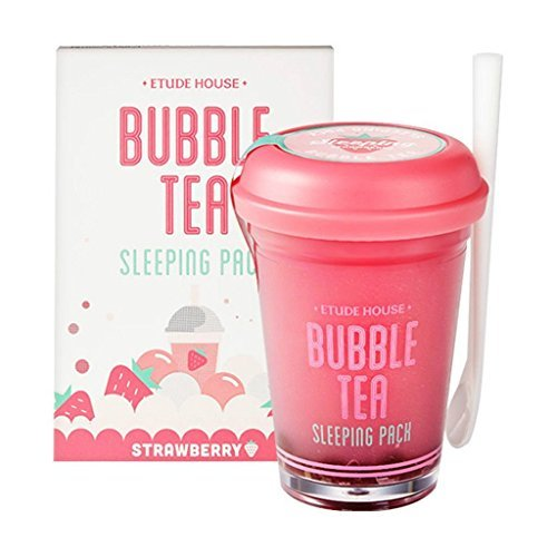 Etude House bubble tea sleeping pack (100g) (Strawberry Tea) -