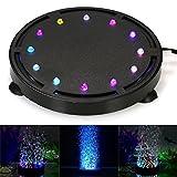 Decdeal Luci per Fontane Sommergibile LED della Bolla di Aria Leggera Decorazione Colorata per Acquario Fish Tank Luci per Acquari 103mm(M)
