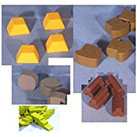 Clash Of Culture Wooden Token Set - 20 Pieces - Mayday Games