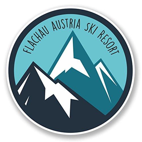 Preisvergleich Produktbild 2 x 10cm/100mm Flachau Österreich Ski Snowboard Resort Vinyl SELBSTKLEBENDE STICKER Aufkleber Laptop reisen Gepäckwagen iPad Zeichen Spaß #6448