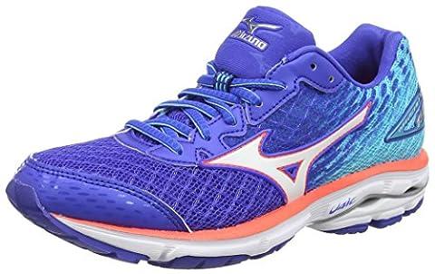 Mizuno Women's Wave Rider 19 Running Shoes, Blue (Dazzling Blue/White/Capri),