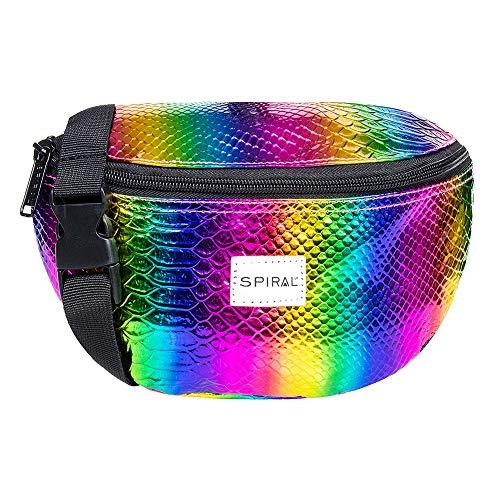 Spiral Textured Rainbow Rave Bum Bag Gürteltasche 23 Centimeters 2 Mehrfarbig (Multicolour) -