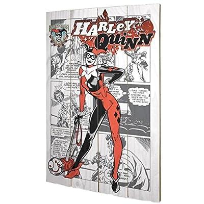 PYRAMID - Panneau en Bois Harley Quinn Comics