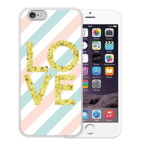 iPhone 6 6S Hülle, WoowCase Handyhülle Silikon für [ iPhone 6 6S ] Liebe Streifen Handytasche Handy Cover Case Schutzhülle Flexible TPU - Transparent Housse Gel iPhone 6 6S Transparent D0434