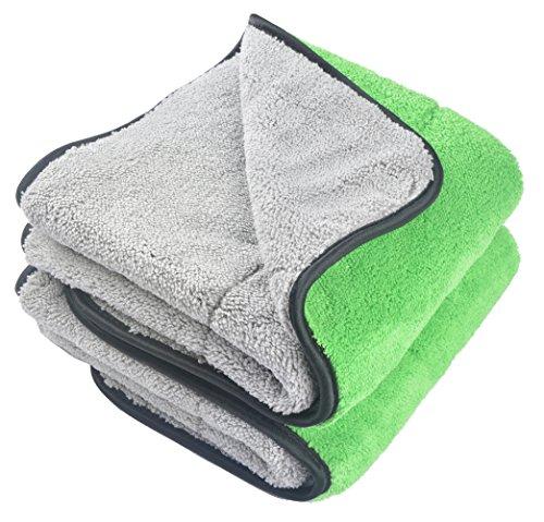 KinHwa 720gsm Mikrofasertücher Auto Putztuch Trockentuch Profiqualität Reinigungstuch Poliertücher Weiches Autopflege 40CM x 60CM 2 Stücke