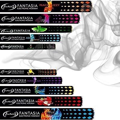 Fantasia E-Shisha Mixed Pack: 3x elektrische Shisha 2 Go, elektronische Wasserpfeife, Einweg, verschiedene Aromen von Fantasia