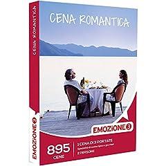 Idea Regalo - EMOZIONE3 - Cofanetto Regalo - CENA ROMANTICA - 895 cene romantiche da 3 portate con specialità di cucina tipica o gourmet