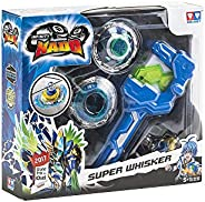 Infinity Nado Super Whisker Spinning Top with Launcher, 12 Pieces, Toys for Boys, 3 Years & A