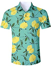 40f0297b25 Goodstoworld Mens Casual Shirts Funky 3D Printed Short Sleeve Colourful  Hawaiian Shirts S-XL
