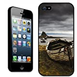 Fancy A Snuggle Rowboat Shore Beblowe Crag Holy Island Clip On Back Cover Hard Case for Apple iPhone 5