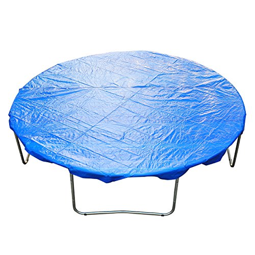 Homcom Funda Proteccion para Cama Elástica Trampolines Impermeable Redondo Durable y Resistente Ø 244cm PE Azul