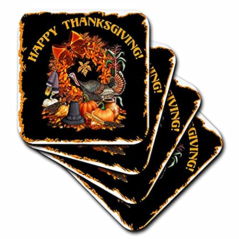 3dRose cst_11684_3 Thanksgiving Featuring a Wild Turkey, Native American and