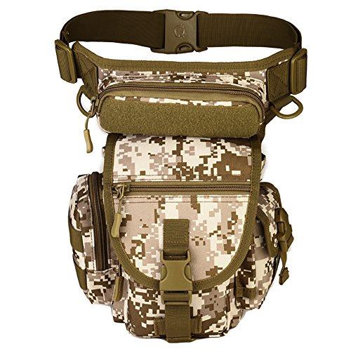 Reefa Outdoor Reisen Ausrüstung Angeln Package Beinbeutel Tasche A-Tarnung