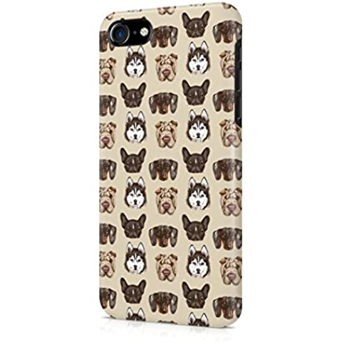 Various Dog Breed Heads Pattern Apple iPhone 7 Snap-On Hard Plastic Protective Shell Case Cover