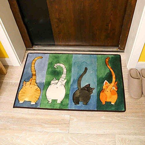 sannix einfach Cute Cat Wohnzimmer Teppiche Home Essentials Fußmatte Schlafzimmer Teppiche Nachttisch Bereich Teppich Creative Fußmatten Rutschfest Boden Teppiche Teppich, multi, 19.6