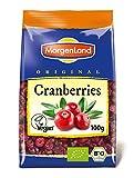Morgenland Cranberries gesüßt 100g Bio Trockenfrüchte, 2er Pack (2 x 100 g)
