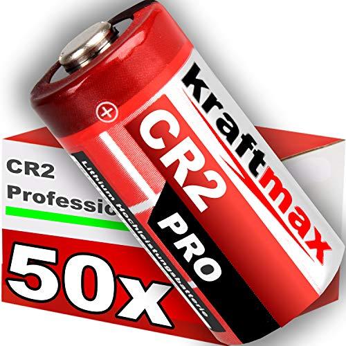 kraftmax 50er Pack CR2 Lithium Hochleistungs- Batterie für professionelle Anwendungen - Neueste Generation -