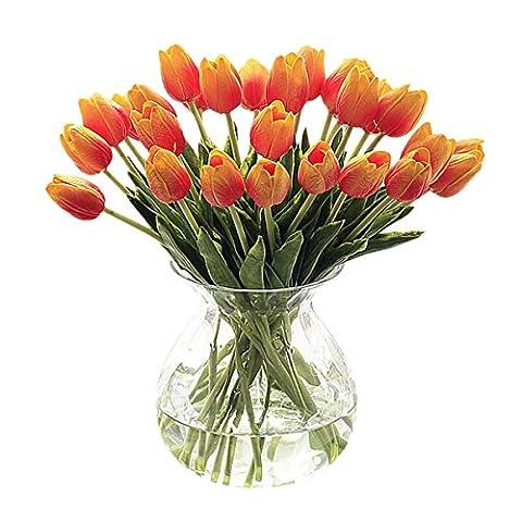 Vlunt-pet 10pcs Fleurs Artificielles Real Touch Soie Coller PU Soie Fleurs Artificielles Tulipe pour bouquet de mariage Maison