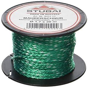 51jiHB4Zl4L. SS300  - Stubai 443113 Cordel de albañil en carrete (diámetro de 1,7 mm, 30 m) color verde, 1,7mm