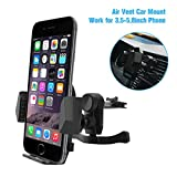 Wietus Car Air Smartphone Mount Holder auto culla per iphone 7 7plus, 6s 6s plus, 6 6plus, 5 5c 4s, samsung galaxy s3 s4 s5 s6 e 3,5-5,8'' Smartphone e GPS