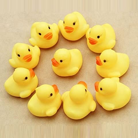 Lowpricenice(TM) Lovely One dozen 12 PC Rubber Duck Ducky Duckie Baby Shower Birthday Party Favors by lowpricenice - Ducky Baby Shower