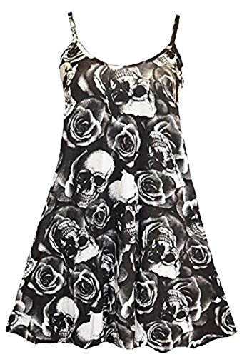 Sugerdiva - Robe - Patineuse - Femme Skull Rose