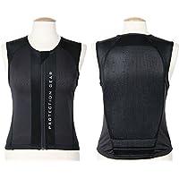 La espalda (Talla S Negro Espalda Chaleco de seguridad Jinete de protección cómoda. Negro