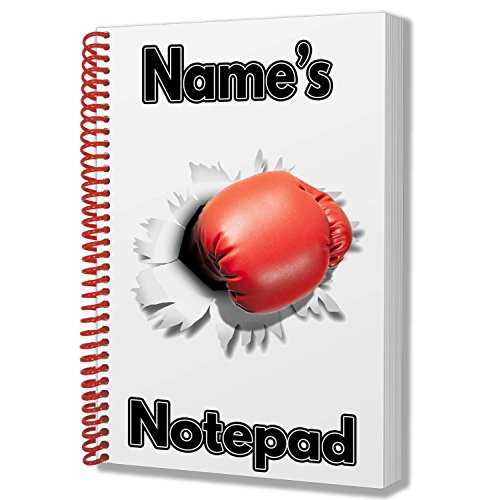 Boxhandschuh Punch Personalisiertes Geschenk-A5Notizblock/Notizbuch, Zeichnungen Doodles Tagebuch Notizen