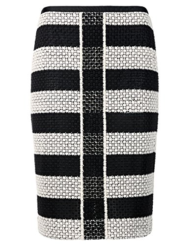 Marc Cain Collections, Jupe Femme Schwarz (black and white 910)