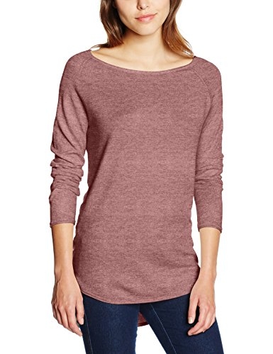 ONLY Damen Pullover Onlmila Lacy L/s Long Pullover Knt Noos, Rosa (Mesa Rose Detail:W. MELANGE), 40 (Herstellergröße: L)
